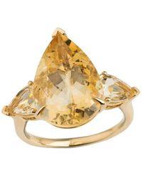 Emily Mortimer Jewellery - Aqua Citrine Pear Ring - Lyst