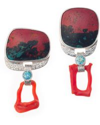 Lainey Papageorge Designs - Red Sky Earrings - Lyst