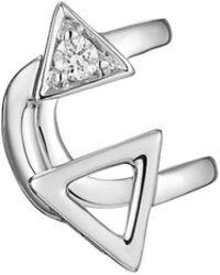 Mishanto London - White Gold & Diamond Devotion Ear Cuff - Lyst