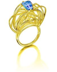 Elaine McKay Jewellery - Ricard 18kt Gold Topaz Ring - Lyst