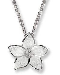 Nicole Barr - Silver Stephanotis Necklace - Lyst