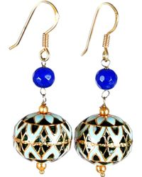 M's Gems by Mamta Valrani - Panache Hook Earrings With Blue Quartz - Lyst