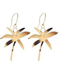 Susan Driver - Gold Plated Sunrise Earrings | - Lyst