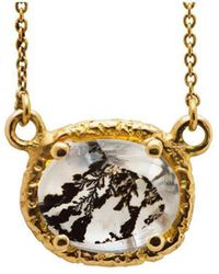 Susan Wheeler Design - Dendritic Quartz Gold Wrapped Necklace - Lyst
