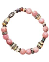 Nadean Designs - Opal Rose Cut And Pave Diamond Tigerlily Bracelet - Lyst