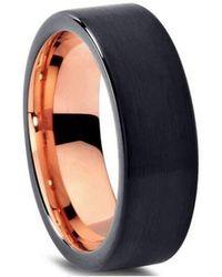 KAVALRI - Custom Brushed Charcoal And Black Ring - Lyst