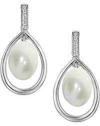 Amore Argento - Rhodium Plated Sterling Silver Harmony Earrings - Lyst