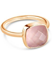 Lily Blanche - Rose Quartz Cocktail Ring - Lyst