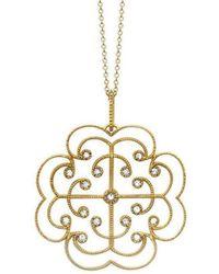 London Road Jewellery - Portobello Yellow Gold Lattice Diamond Pendant - Lyst