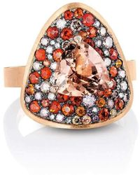 Joke Quick - Innervisions Ring With Tourmaline And Fire Opal - Lyst