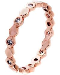 Farm Wife Style - The Athena Stacking Ring Rose Gold Plated - Lyst
