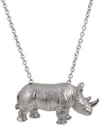 Alexander Jewell - White Rhino Pendant - Lyst