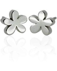 Flawless Jewellery - Platinum Daisy Earrings - Lyst