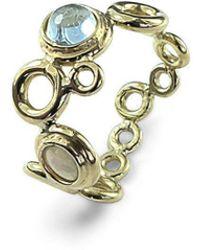 Serena Fox - Ocean Foam Yellow Gold Ring - Lyst