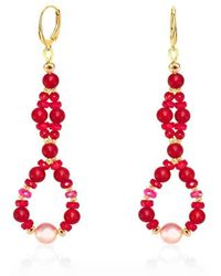 Regenz - Twisted Red Coral & Ruby 10kt Gold Earrings - Lyst