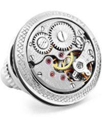 Tateossian - Silver Skeleton Gear Pin - Lyst