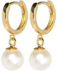 XISSJEWELLERY - Gold & Pearl Drop Earrings - Lyst