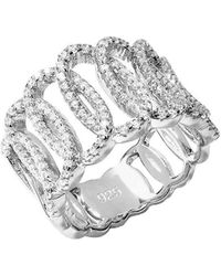 Lustre of London - White Squiggle Ring - Lyst