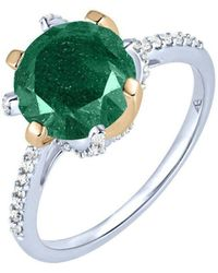 Arya Esha - Gold, Aventurine & Diamond Ring | - Lyst