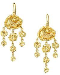 Joseph Lamsin Jewellery - Jelly Fish Chandelier Gold Vermeil Earrings - Lyst