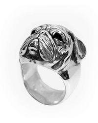 Luke Goldsmith - Sterling Silver Pug Face Ring - Lyst