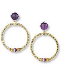 Daria de Koning - Large Orbit Gem-studded Hoop Earrings - Lyst