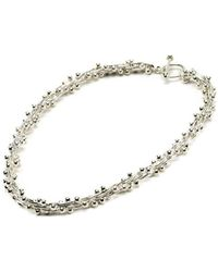 Hiho Silver - Sterling Silver Bobbly Necklace - Lyst