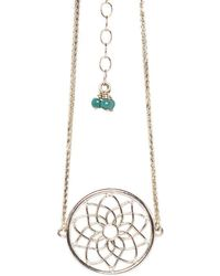 Congés - Dream Catcher Bracelet With Diamonds And Turquoise - Lyst