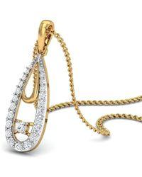 Diamoire Jewels Hand-carved 14kt Rose Gold Water-drop Diamond Pendant 8OrAR928q