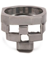 Gab McNeil - Stacked Ring - Oxidised 925 Sterling Silver - Lyst