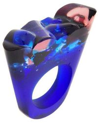 Pasionae - Murano Blue Ring - Delight - Lyst