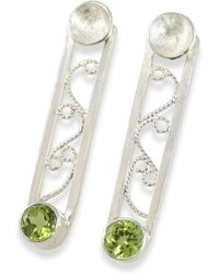 Monica Fiorella Jewelry - Modern Filigree Peridot Earrings - Lyst