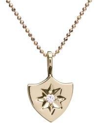 Alexis Kletjian - Lucky Star Yellow Gold Shield Charm - Lyst