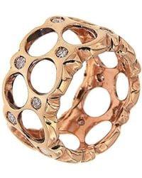 Botta Gioielli - Rose Band Bubbles Ring - Lyst