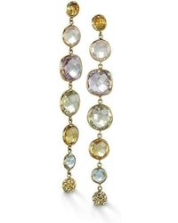 BCOUTURE - Multi Stone With Pellet Accent Drop Earrings - Lyst