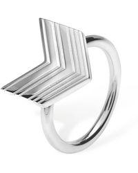 Lucy Quartermaine - Art Deco Arrow Ring - Lyst