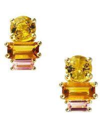 Daou Jewellery - Golden Light Earrings - Lyst