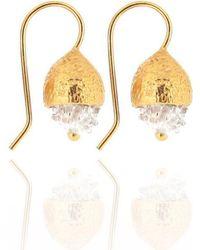 Ana Verdun - Gold Sienna Earrings - Lyst