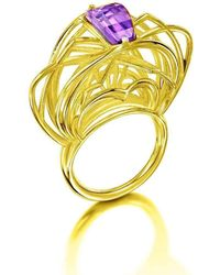 Elaine McKay Jewellery - Ricard 18kt Gold Amethyst Ring - Lyst