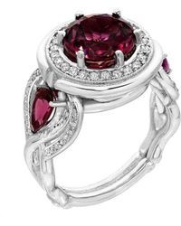 """Dallas Prince Designs - """"amore"""" Ring With """"plum Tourmaline"""" And Diamonds - Lyst"""