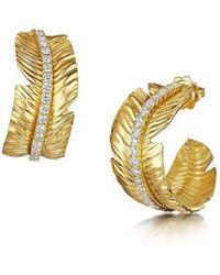 ROX - Diamonds and Thrills - Gold Tiki Diamond Earrings - 1.54ct - Lyst