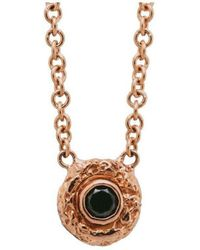 Susan Wheeler Design - Rose Gold Black Diamond Necklace - Lyst