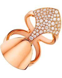 Akillis - Python Armor White Gold Set With Diamonds Ring - Lyst