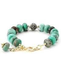 Elisa Ilana Jewelry - Yellow Gold & Green Jasper Lollies Bracelet | - Lyst