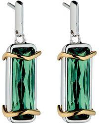Fiorelli - Green Fluorite Gold Detail Earrings - Lyst