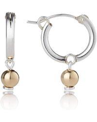 Lavan - Gold And Silver Hoop Earrings - Lyst