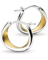 Kit Heath - Coast Shore Gold Plated And Sandblast Hoop Earrings - Lyst