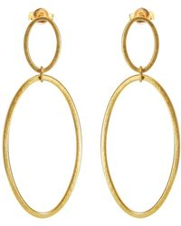 Heather O Connor - Gold Cadence Double Drop Earrings - Lyst