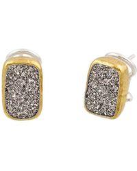 Gurhan - Sterling Silver Mystere Earrings With Vertical-rectangular Druzy Quartz - Lyst