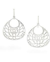 House of Alaia Large Lotus Flower Earrings In Bronze N5jDMusy